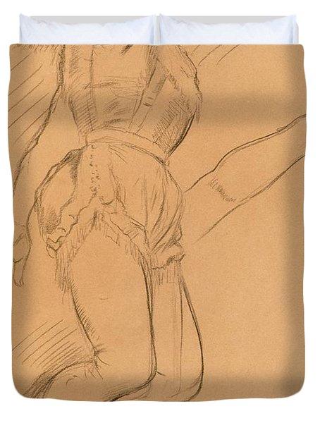 Mademoiselle La La At The Circus Fernando Duvet Cover by Edgar Degas