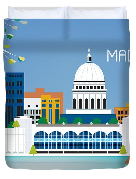 Madison Duvet Cover by Karen Young
