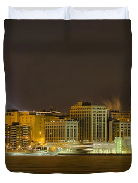 Madison - Wisconsin City  Panorama - No Fireworks Duvet Cover