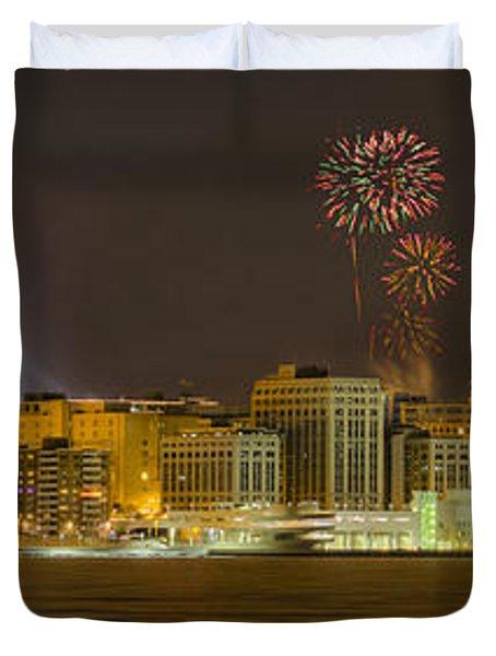 Madison Skyline New Years Eve Duvet Cover