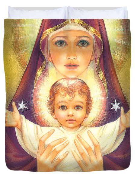 Madonna And Baby Jesus Duvet Cover