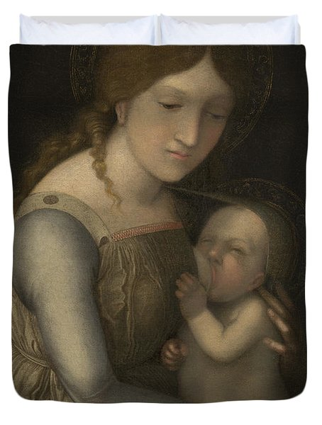 Madonna And Child Duvet Cover by Andrea Mantegna