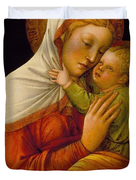 Madonna And Child Duvet Cover by Jacob Bellini