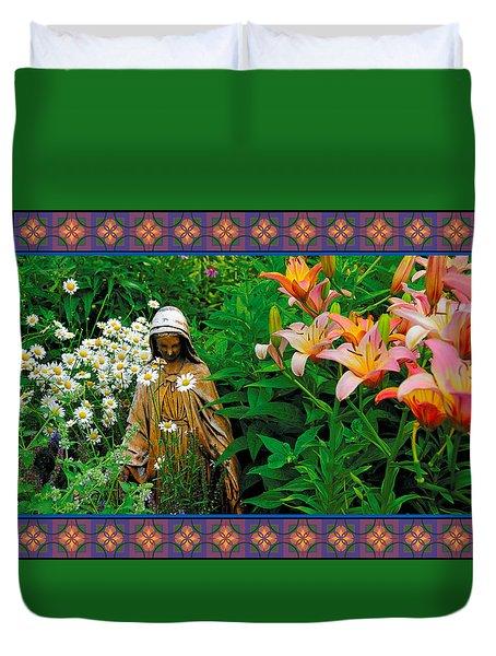 Madonna Garden Duvet Cover