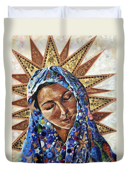 Madonna Of The Dispossessed Duvet Cover