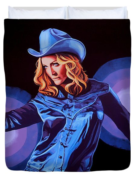 Madonna Painting Duvet Cover