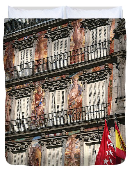 Madrid Murals Duvet Cover by Joan Carroll