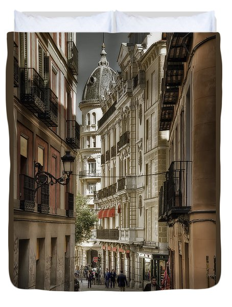Madrid Streets Duvet Cover by Joan Carroll