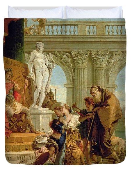 Maecenas Presenting The Liberal Arts To The Emperor Augustus Duvet Cover by Giovanni Battista Tiepolo