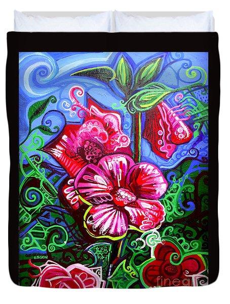 Magenta Fleur Symphonic Zoo I Duvet Cover