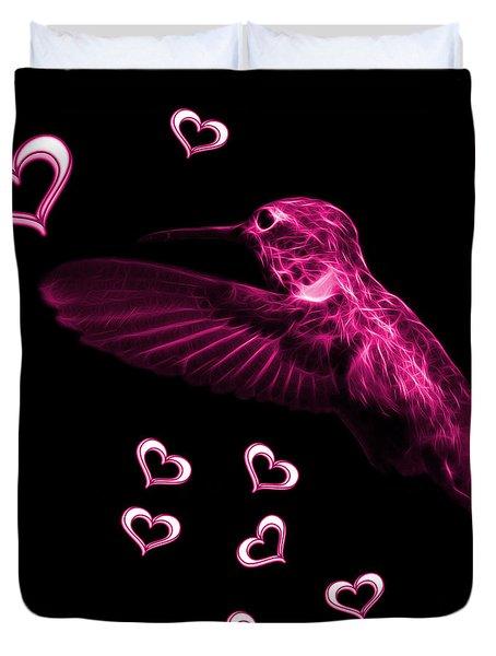 Magenta Hummingbird - 2055 F Duvet Cover