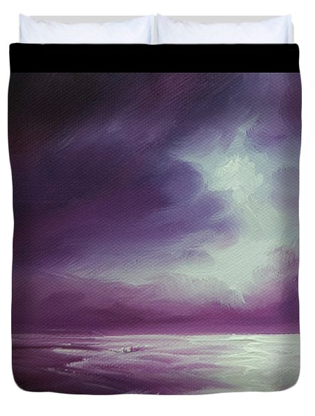 Magenta Moon Iv Duvet Cover by James Christopher Hill