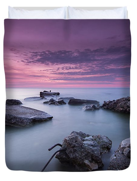 Magenta Morning Duvet Cover
