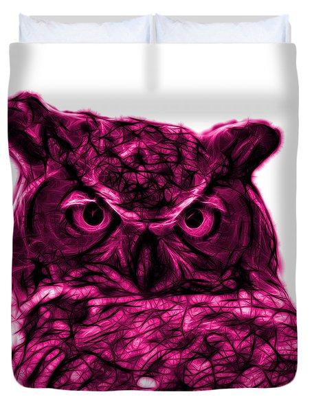 Magenta Owl 4436 - F S M Duvet Cover
