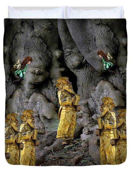 Magic As The Tree People Celebrate Health Duvet Cover by LeeAnn McLaneGoetz McLaneGoetzStudioLLCcom