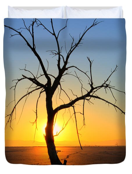 Magic At The Salton Sea Duvet Cover by Bob Christopher