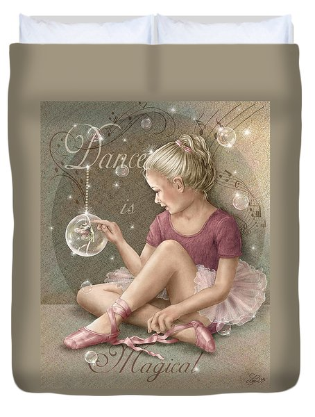 Magic Ballerina Duvet Cover by Beverly Levi-Parker