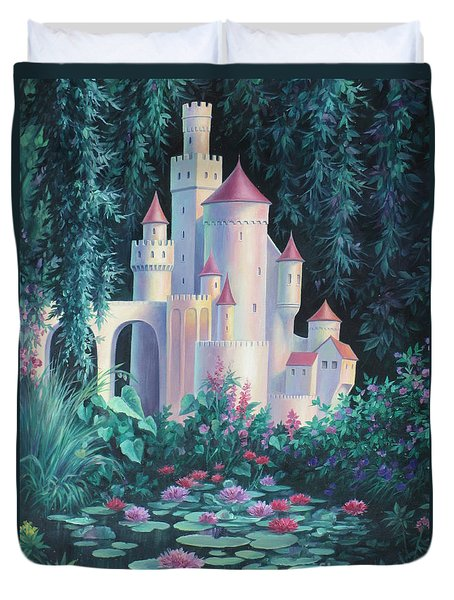 Magic Castle Duvet Cover by Vivien Rhyan