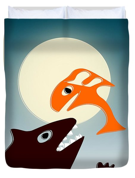 Magic Fish Duvet Cover by Anastasiya Malakhova