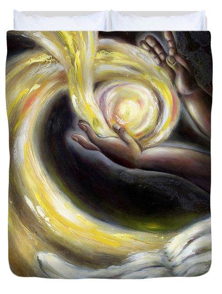 Duvet Cover featuring the painting Magic by Hiroko Sakai