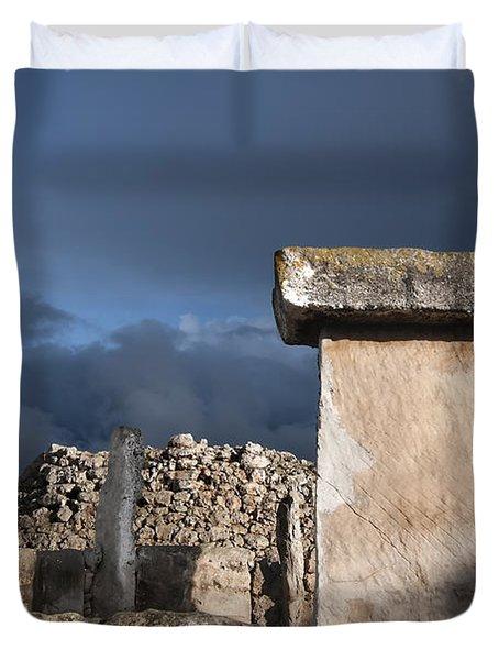 Bronze Edge In Minorca Called Talaiotic Age Unique At World - Magic Island 1 Duvet Cover by Pedro Cardona