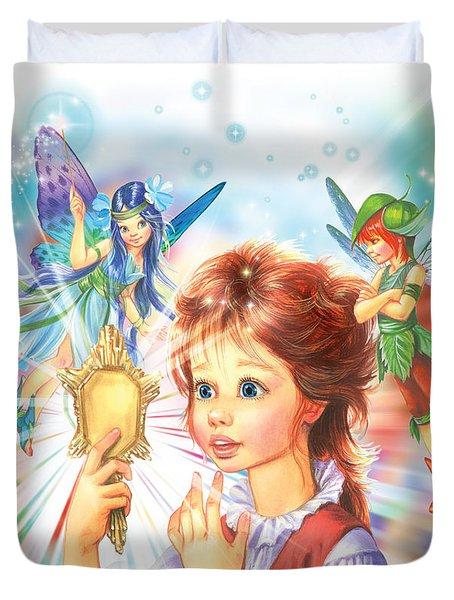 Magic Mirror Duvet Cover by Zorina Baldescu