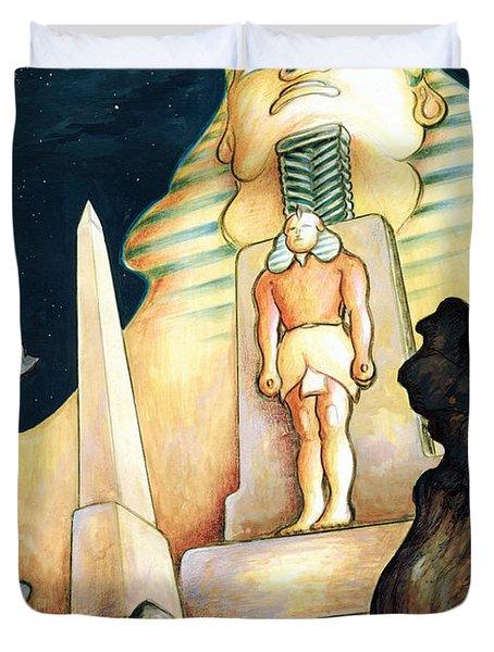 Magic Vegas Sphinx - Fantasy Art Painting Duvet Cover