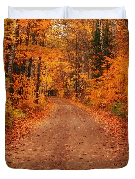 Magical Autumn Mystery Duvet Cover by Rachel Cohen