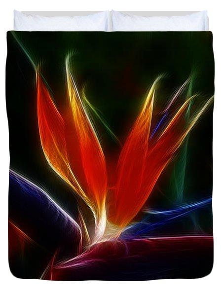 Magical Bird Of Paradise Duvet Cover by Sandra Bronstein