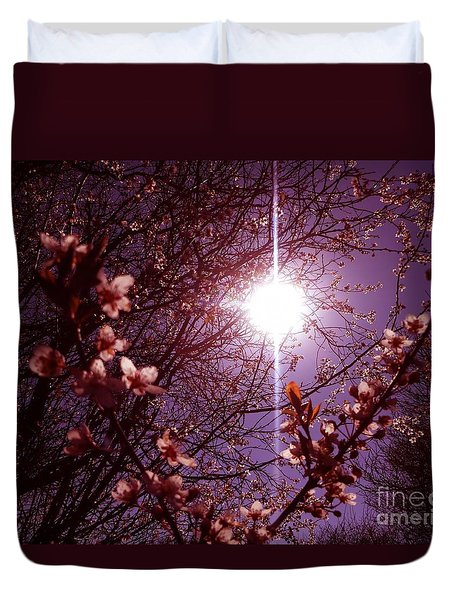 Duvet Cover featuring the photograph Magical Blossoms by Vicki Spindler