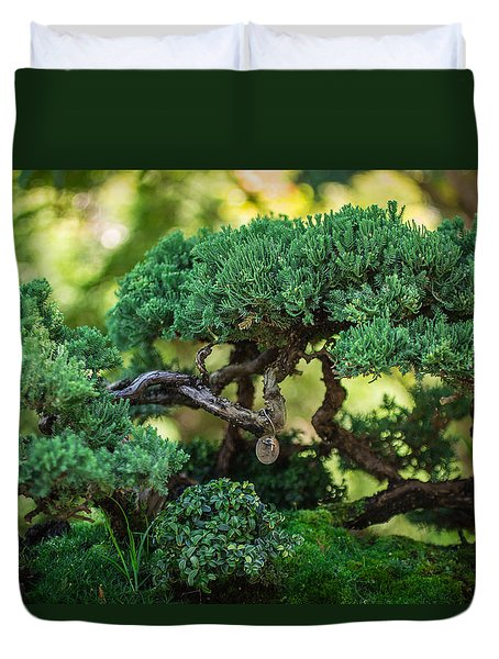 Duvet Cover featuring the photograph Magical Bonsai by Julie Andel