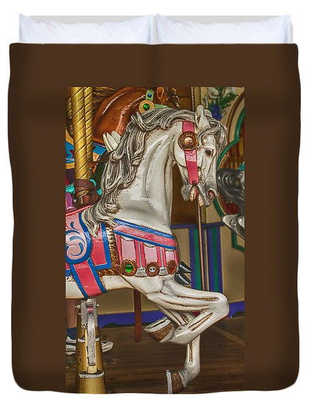 Magical Carrsoul Horse Duvet Cover by Garry Gay