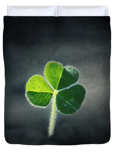 Magical Clover Duvet Cover by Melanie Lankford Photography