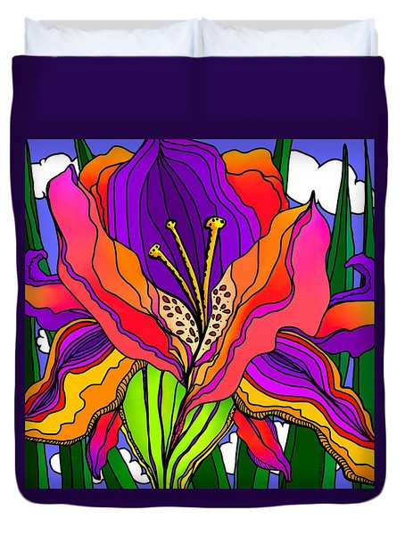 Magical Mystery Garden Duvet Cover
