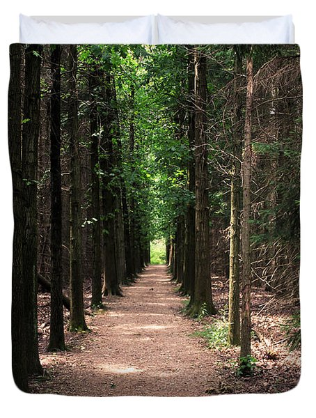 Duvet Cover featuring the photograph Magical Path by Bruce Patrick Smith