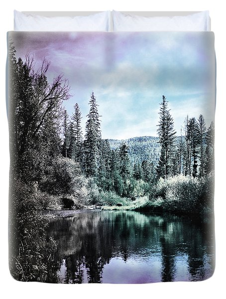 Duvet Cover featuring the photograph Magical Pond by Janie Johnson