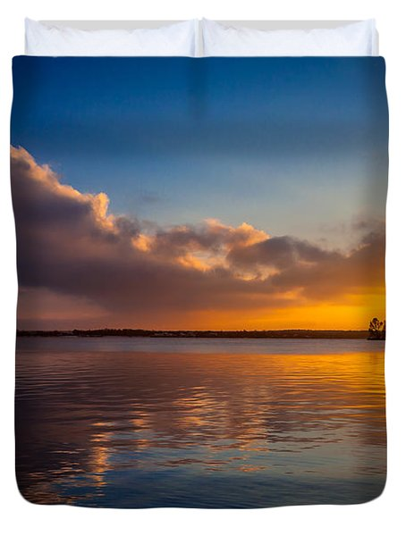 Magical Reflections Of Sundown Duvet Cover