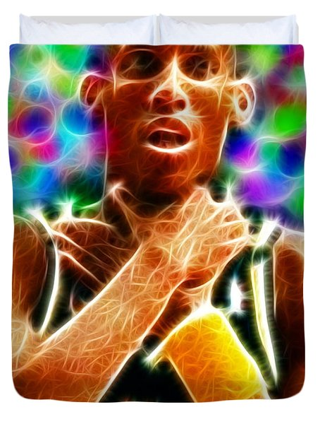 Magical Reggie Miller Choke Duvet Cover by Paul Van Scott