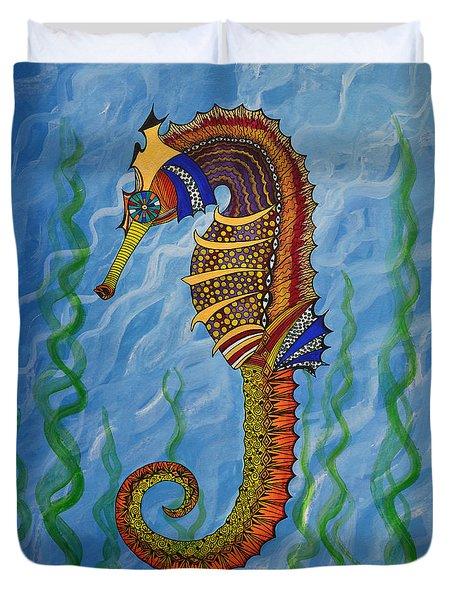Magical Seahorse Duvet Cover by Suzette Kallen