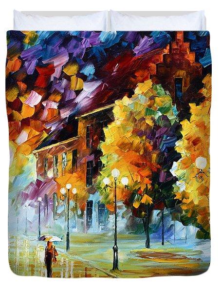 Magical Time Duvet Cover by Leonid Afremov