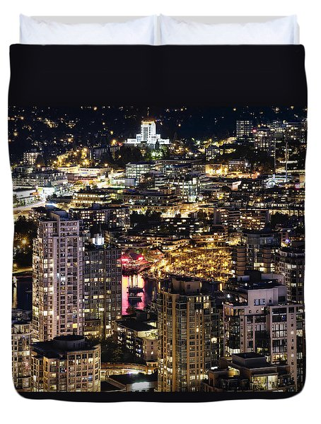 Duvet Cover featuring the photograph Magical Yaletown Harbor Mdxlix by Amyn Nasser