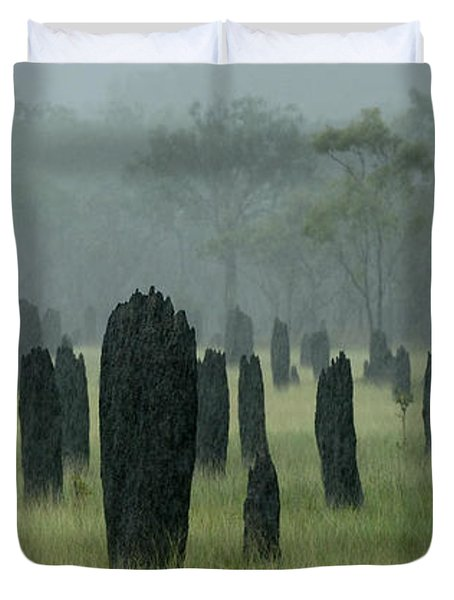 Magnetic Termite Mounds Duvet Cover by Bob Christopher