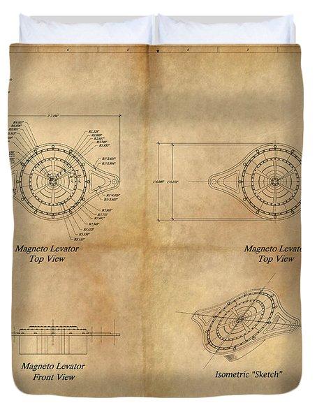 Magneto System Blueprint Duvet Cover