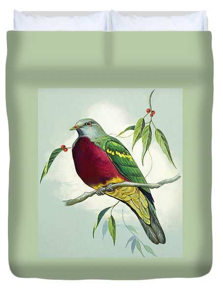 Magnificent Fruit Pigeon Duvet Cover