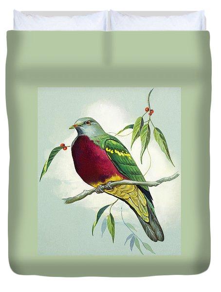 Magnificent Fruit Pigeon Duvet Cover by Bert Illoss