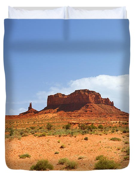 Magnificent Monument Valley Duvet Cover by Christine Till