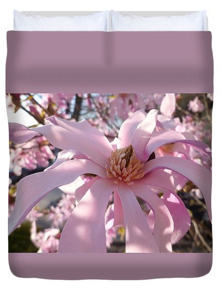 Magnificent Pink Infusion Duvet Cover by Lingfai Leung