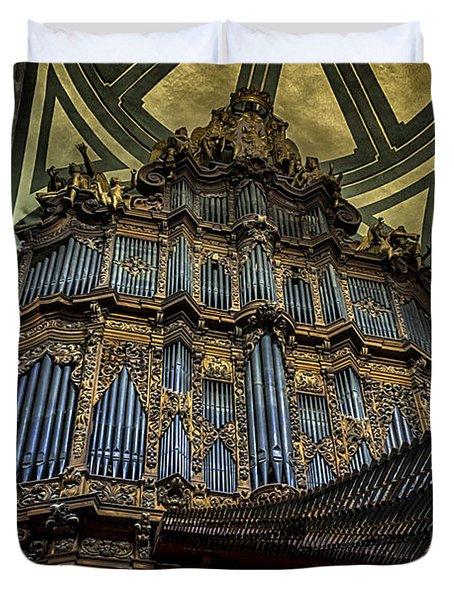 Magnificent Pipe Organ Duvet Cover by Lynn Palmer