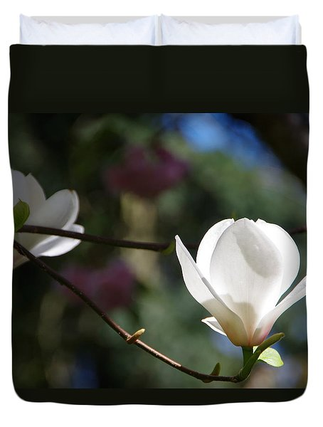 Magnolia Blossoms Duvet Cover by Marilyn Wilson