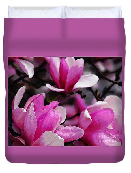 Magnolia Blossoms Duvet Cover by Olivia Hardwicke